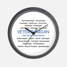 Veterinarian The All-In-One D Wall Clock