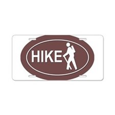 Cute Hiking Aluminum License Plate