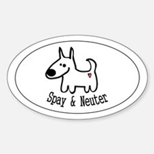Spay & Neuter -dog- Oval Decal