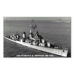 USS CLARENCE K. BRONSON Sticker (Rectangle)