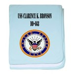USS CLARENCE K. BRONSON baby blanket