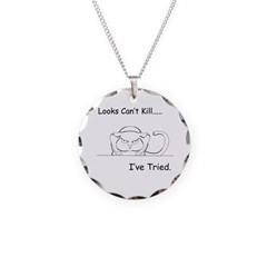 Looks Can't Kill (cat) Necklace