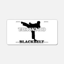 TaeKwonDo Black Belt Aluminum License Plate