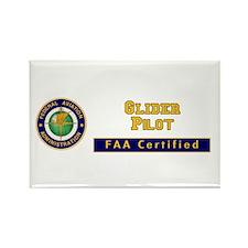 Glider Pilot Rectangle Magnet