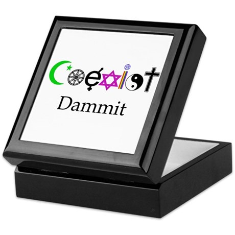 Coexist Dammit! Keepsake Box