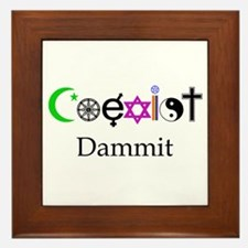 Coexist Dammit! Framed Tile