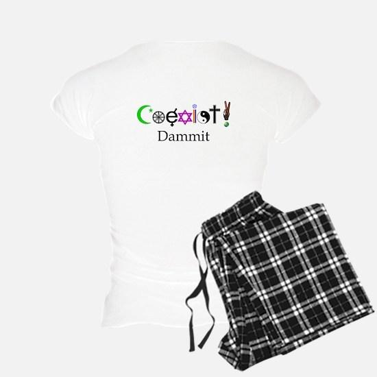 Coexist Dammit! 2 pajamas