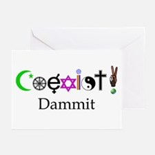 Coexist Dammit! 2 Greeting Cards (Pk of 20)