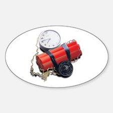 Explosive Dynamite Sticker (Oval)