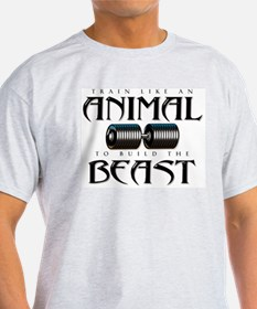 TRAIN LIKE AN ANIMAL Ash Grey T-Shirt