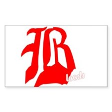 Gang History Bloods Rectangle Decal