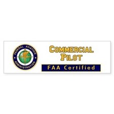 Commercial Pilot Bumper Bumper Sticker
