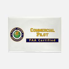 Commercial Pilot Rectangle Magnet
