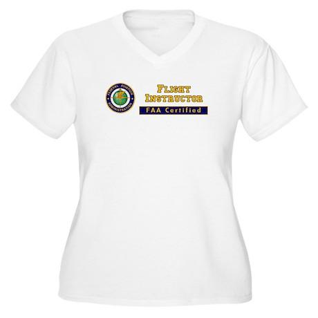 Flight Instructor Women's Plus Size V-Neck T-Shirt