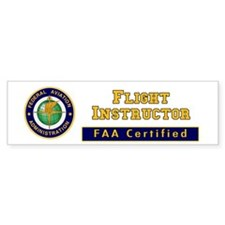 Flight Instructor Bumper Bumper Sticker