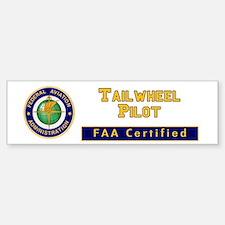 Tailwheel Pilot Bumper Bumper Sticker