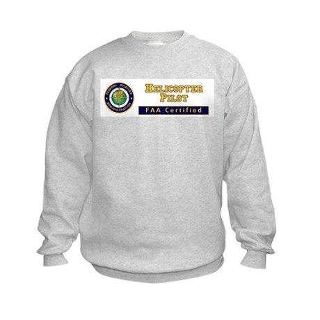 Helicopter Pilot Kids Sweatshirt