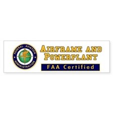 Airframe & Powerplant Bumper Sticker