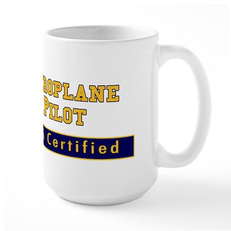 Gyroplane Pilot Large Mug