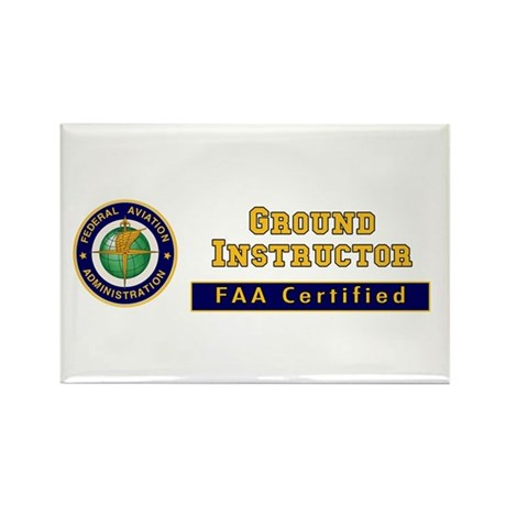 Ground Instructor Rectangle Magnet