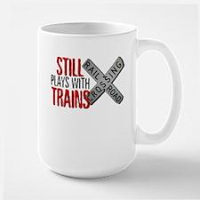 Still Plays With Trains Large Mug