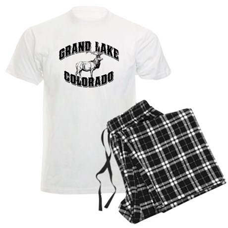 Grand Lake Elk Black Men's Light Pajamas