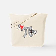 I heart (love) Pi Day Tote Bag
