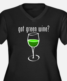 got green wine white Plus Size T-Shirt