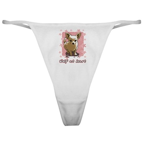 Chihuahua Wolf at Heart Classic Thong