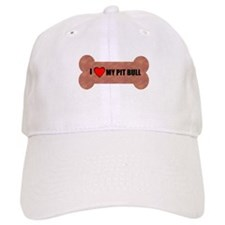 PIT BULL DOG BONE LOOK Baseball Cap