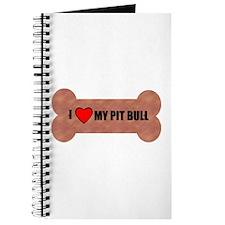 PIT BULL DOG BONE LOOK Journal