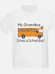 Grandpa Drives a Bus - Kids T-Shirt