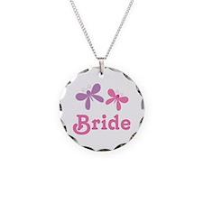 Butterflies Bride Wedding Necklace