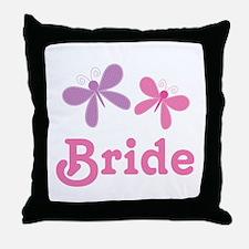 Butterflies Bride Wedding Throw Pillow