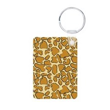 Outline Leopard Print Keychains