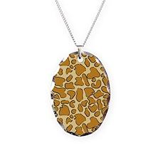 Outline Leopard Print Necklace