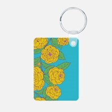 Blue and Yellow Bold Bloom Keychains