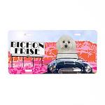 Bichon Frise Aluminum License Plate