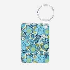 Hippie Floral Blue Keychains