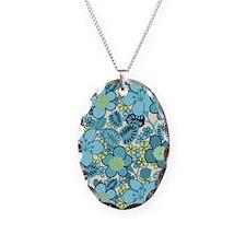 Hippie Floral Blue Necklace