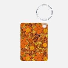 Hippie Floral Orange Keychains