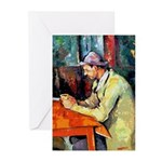 Jazz Singer on Abstract Greeting Cards (Pk of 20)