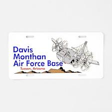 C-130 DMAFB Aluminum License Plate