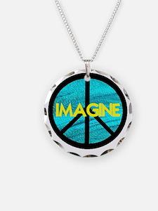 IMAGINE with PEACE SYMBOL Necklace