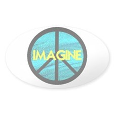 IMAGINE with PEACE SYMBOL Decal