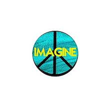 IMAGINE with PEACE SYMBOL Mini Button