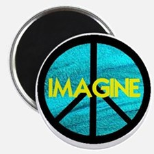 IMAGINE with PEACE SYMBOL Magnet