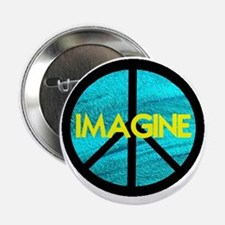 "IMAGINE with PEACE SYMBOL 2.25"" Button"