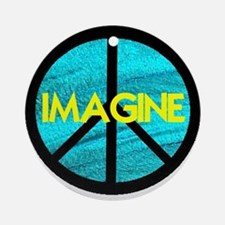 IMAGINE with PEACE SYMBOL Ornament (Round)