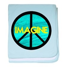 IMAGINE with PEACE SYMBOL baby blanket